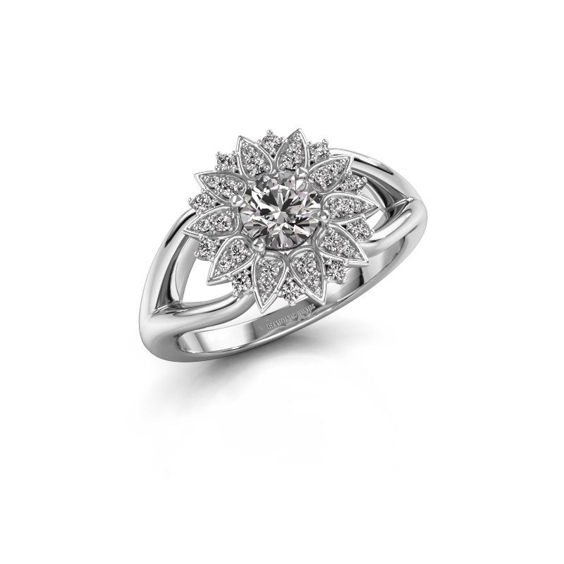 Verlovingsring Chasidy 1 950 platina lab-grown diamant 0.50 crt