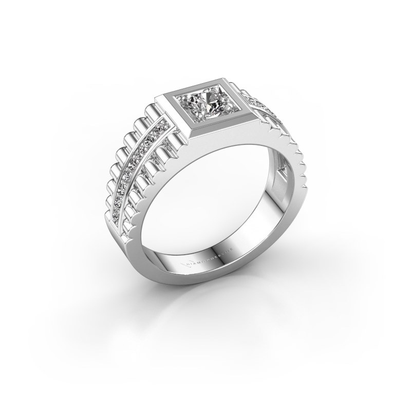 Men's ring Maikel 585 white gold zirconia 4.2 mm