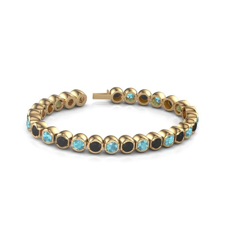 Tennisarmband Delma 375 goud blauw topaas 5 mm