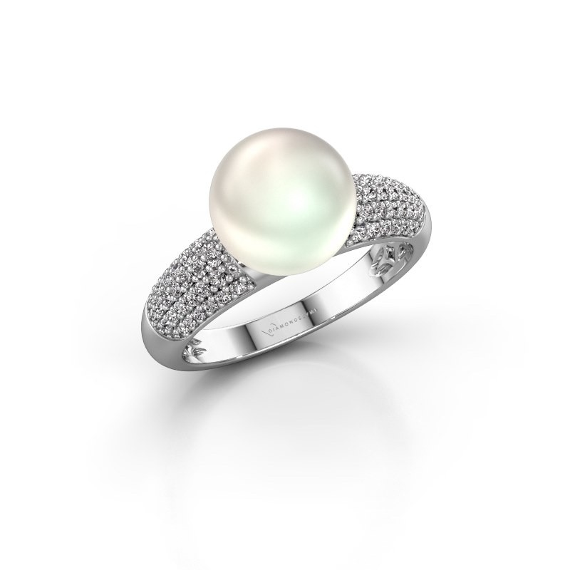 Ring Anisa 950 platinum white pearl 9 mm