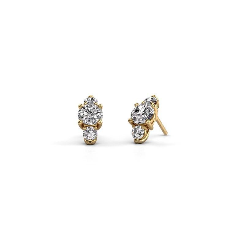 Oorbellen Amie 375 goud diamant 3.00 crt