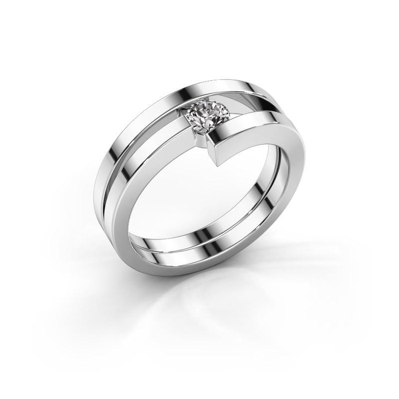 Ring Nikia 925 zilver diamant 0.25 crt