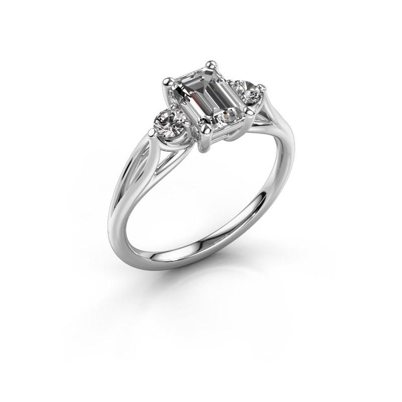 Verlovingsring Amie EME 950 platina diamant 1.350 crt