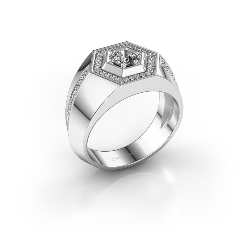 Men's ring Sjoerd 925 silver diamond 0.630 crt