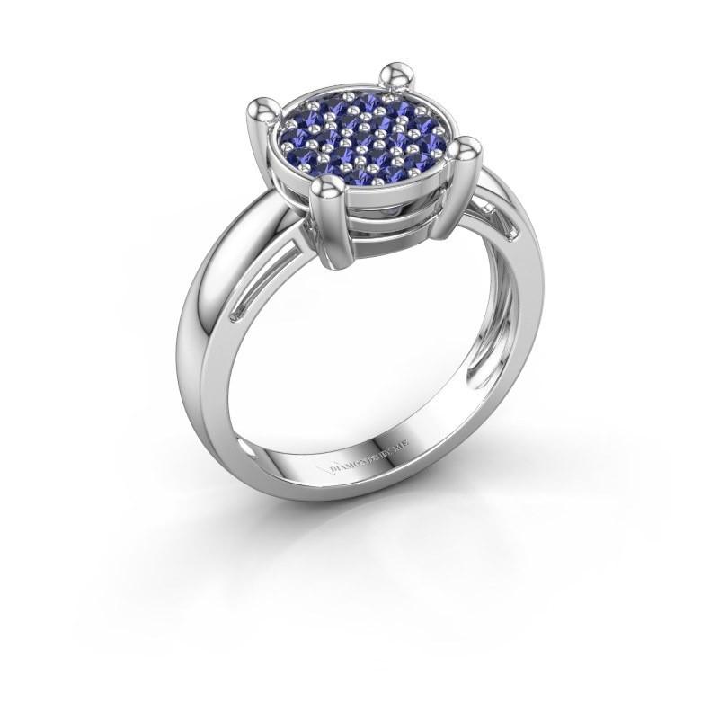 Ring Dina 585 Weißgold Saphir 1.6 mm