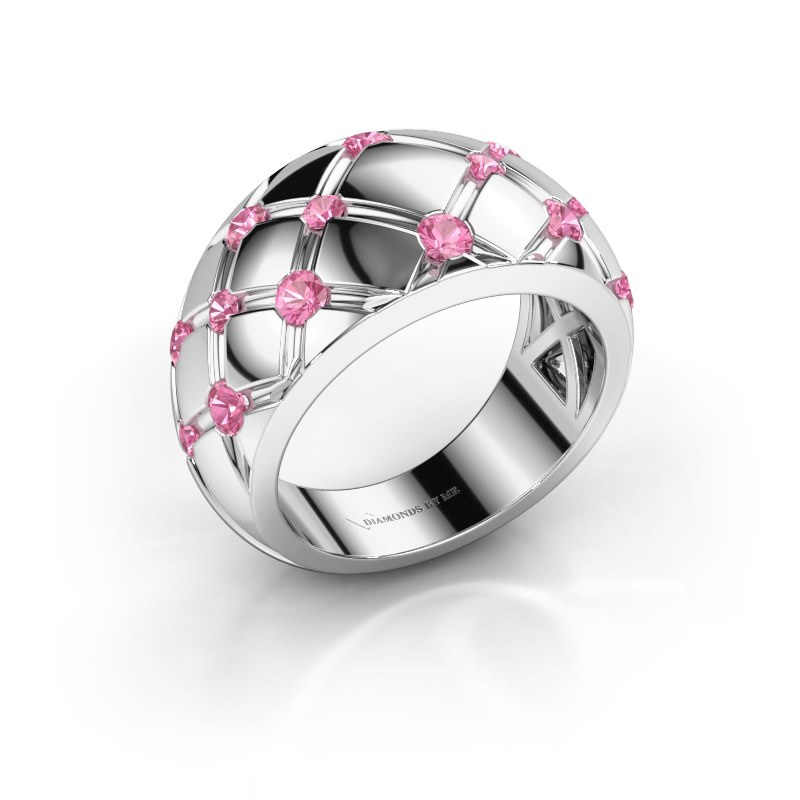 Ring Imke 585 white gold pink sapphire 2.5 mm