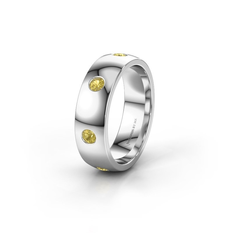 Alliance WH0105L26BP 925 argent saphir jaune ±6x2 mm