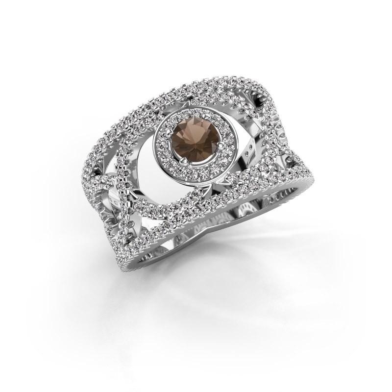 Ring Regina 925 zilver rookkwarts 4.2 mm