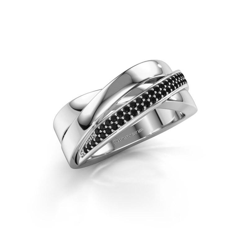 Ring Katherina 950 Platin Schwarz Diamant 0.306 crt