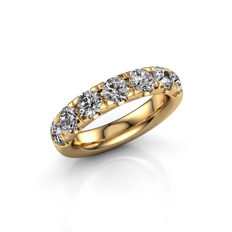 Vorsteckring Jackie Half 375 Gold Diamant 2.10 crt