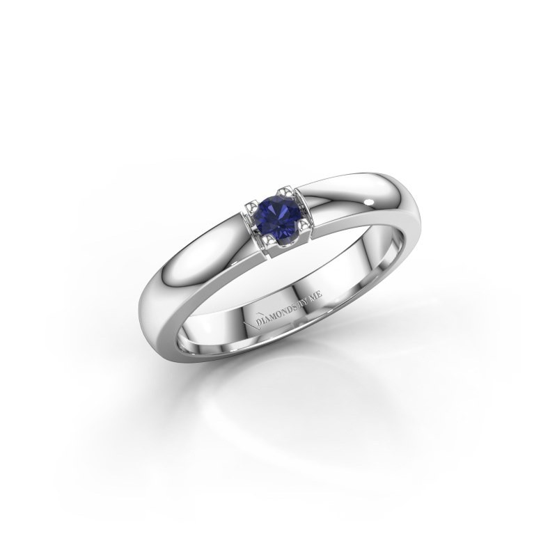 Engagement ring Rianne 1 585 white gold sapphire 3 mm