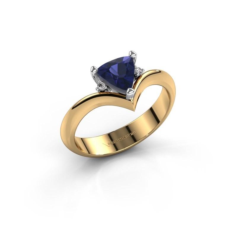 Ring Arlette 585 goud saffier 7 mm