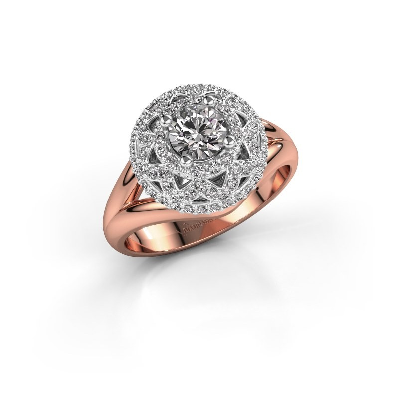 Ring Leonora 585 rose gold diamond 0.88 crt