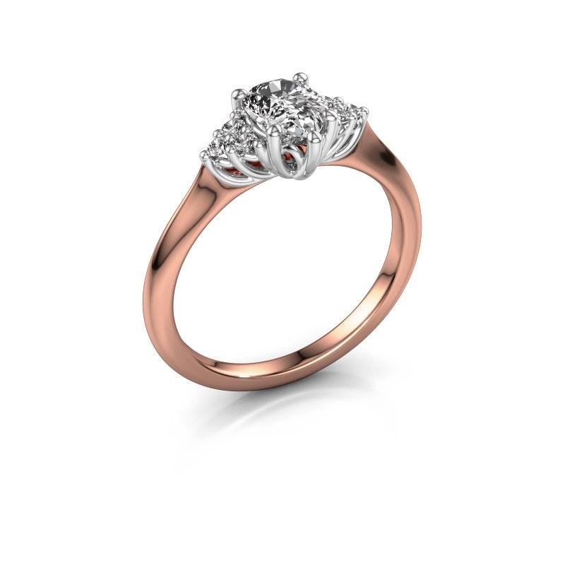 Verlovingsring Felipa per 585 rosé goud lab-grown diamant 0.765 crt