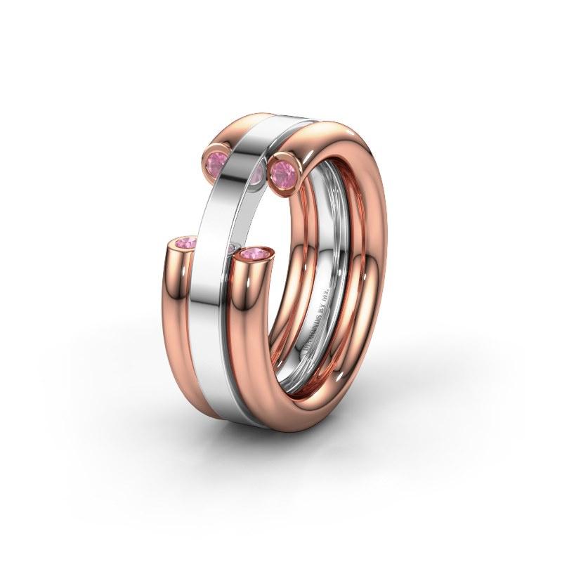 Ehering WH6018L 585 Roségold Pink Saphir ±8x3 mm