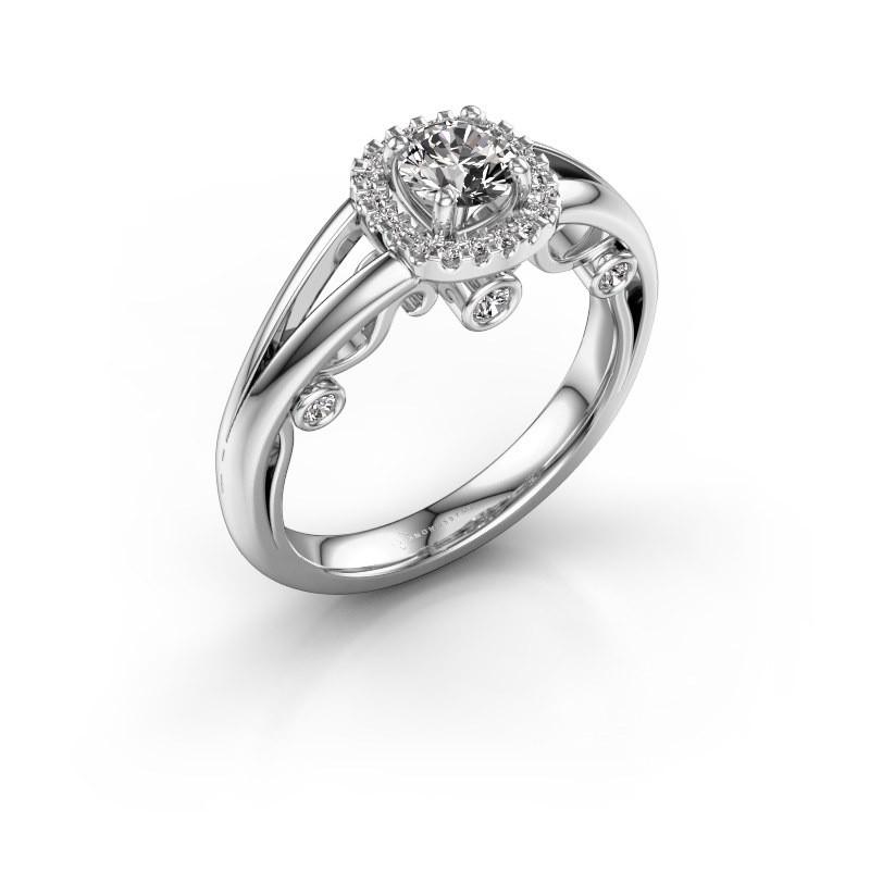 Verlovingsring Carina 585 witgoud diamant 0.61 crt