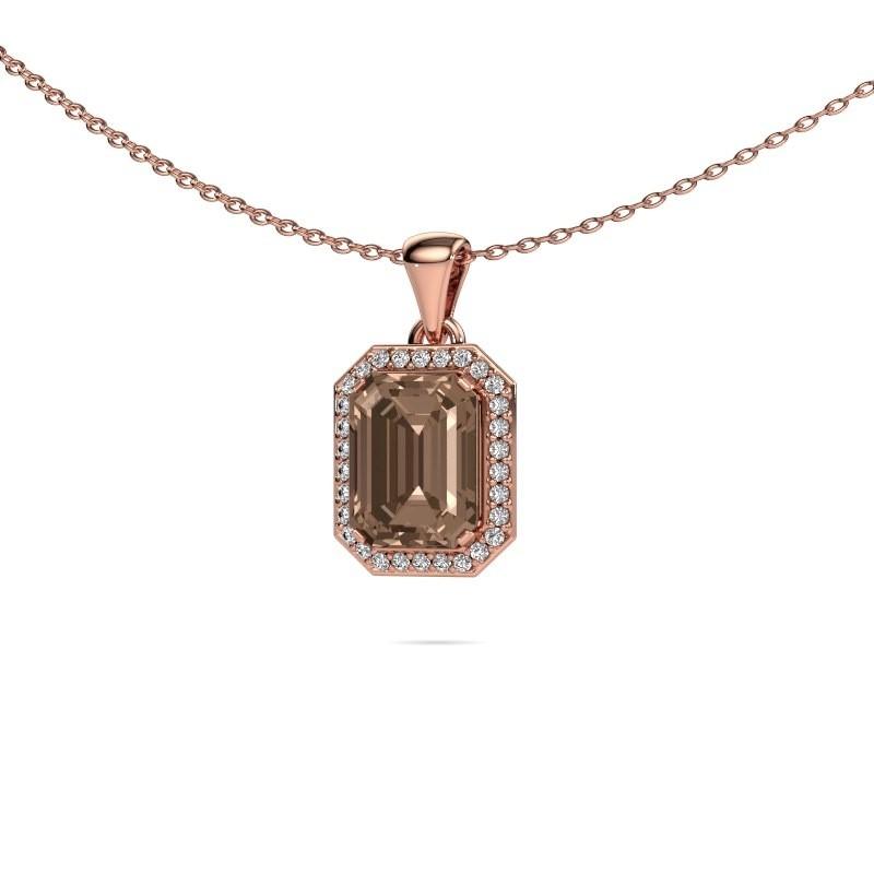 Ketting Dodie 375 rosé goud bruine diamant 2.65 crt