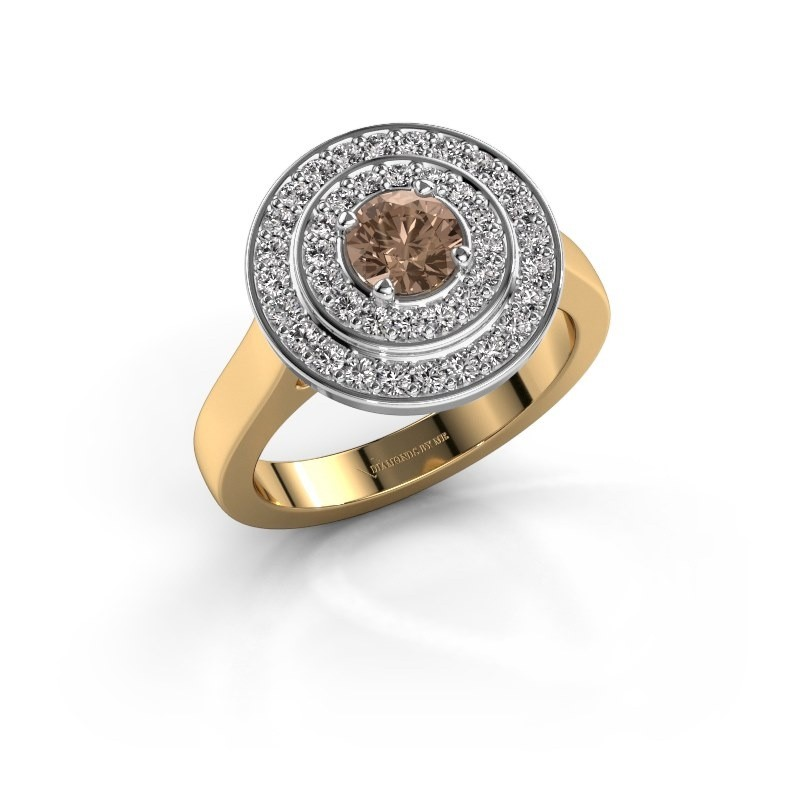 Ring Alecia 1 585 goud bruine diamant 0.948 crt