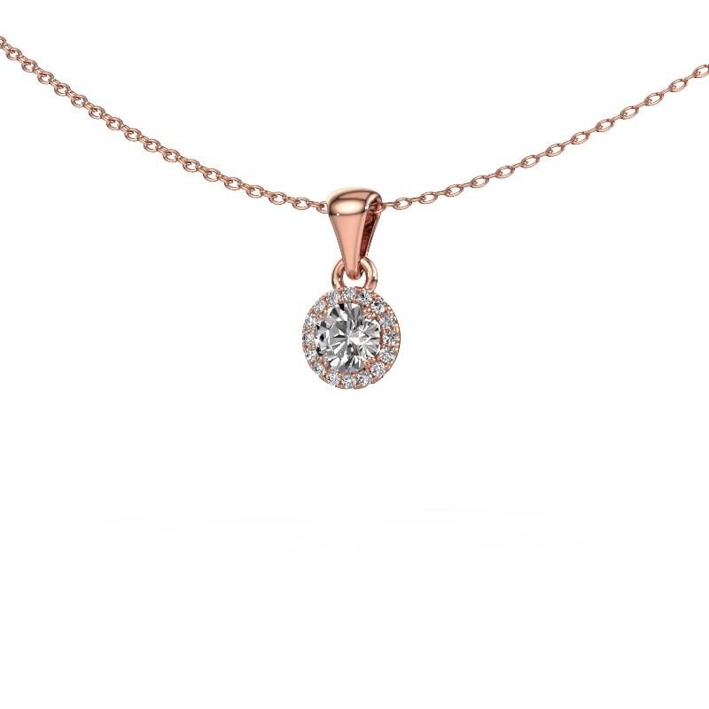 Hanger Seline rnd 375 rosé goud diamant 0.33 crt