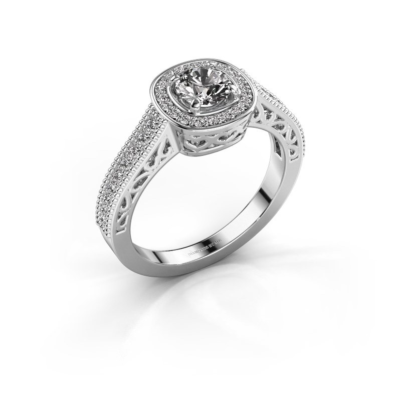 Verlovings ring Candi 950 platina zirkonia 5 mm