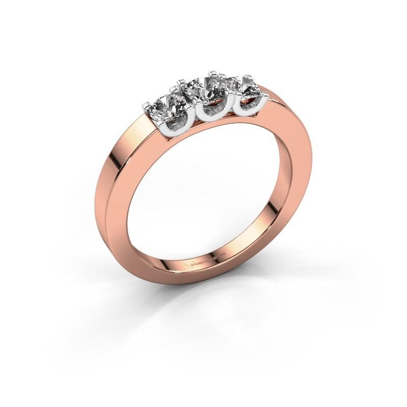 Verlobungsring Selina 1 585 Roségold Diamant 0.50 crt