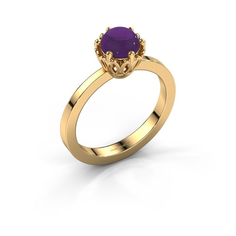 Ring Marly 585 goud amethist 6 mm