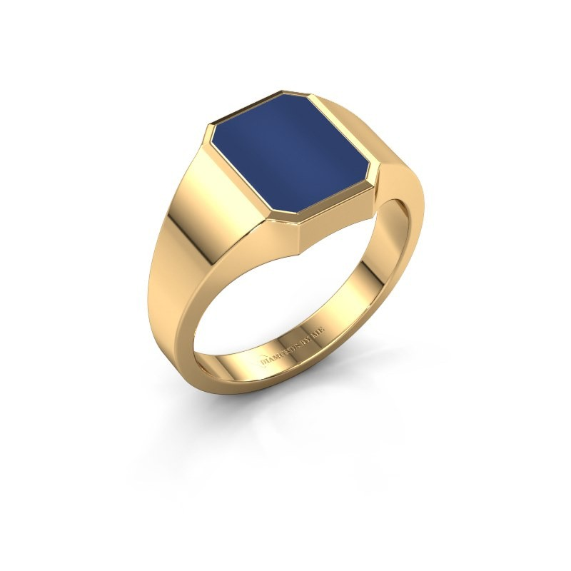 Signet ring Glenn 1 585 gold lapis 10x8 mm