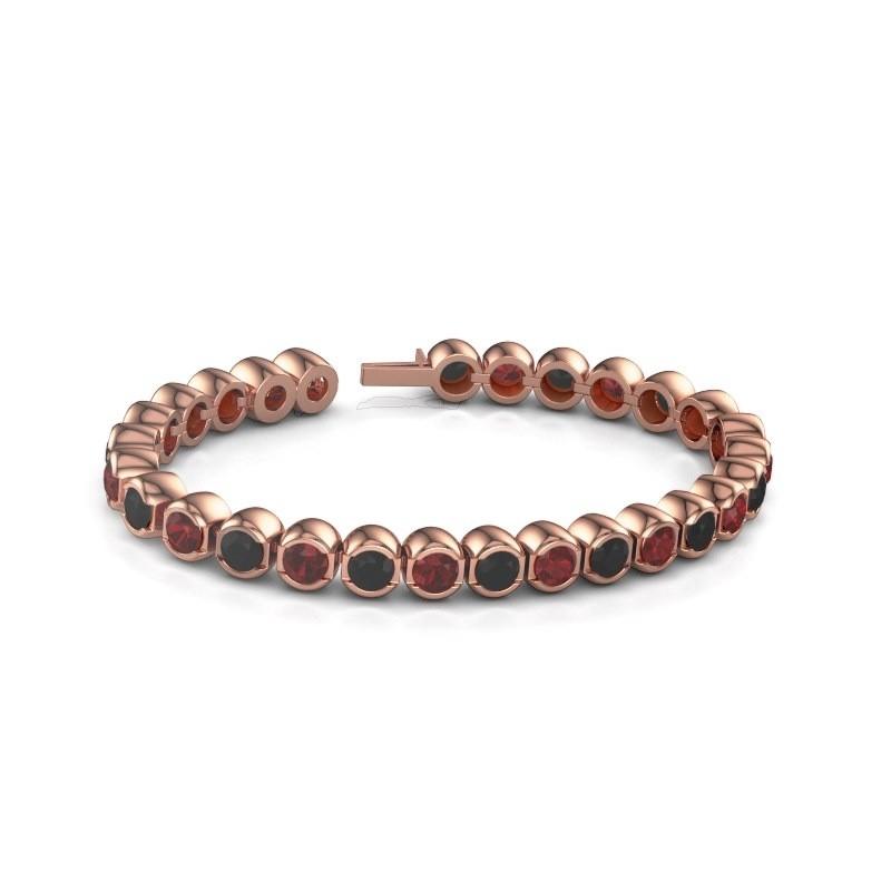 Tennisarmband Delma 375 rosé goud robijn 5 mm