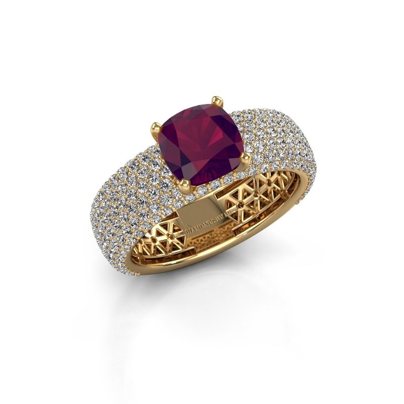 Verlovings ring Darcy 375 goud rhodoliet 7 mm