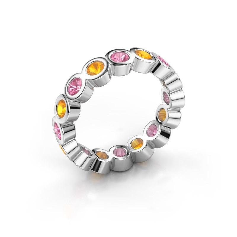 Vorsteckring Edwina 3 925 Silber Pink Saphir 3 mm
