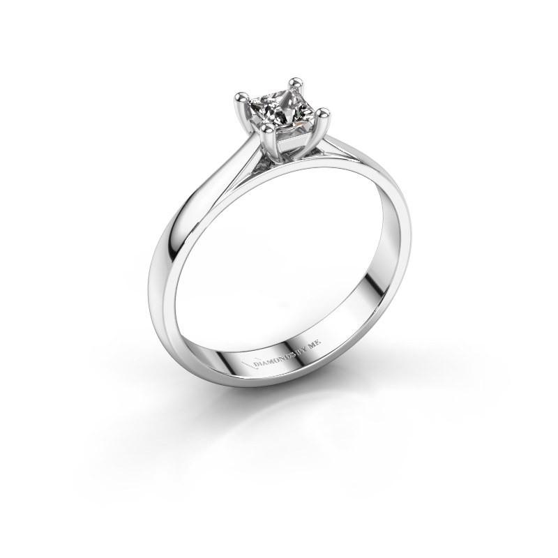 Engagement ring Sam Square 950 platinum diamond 0.40 crt