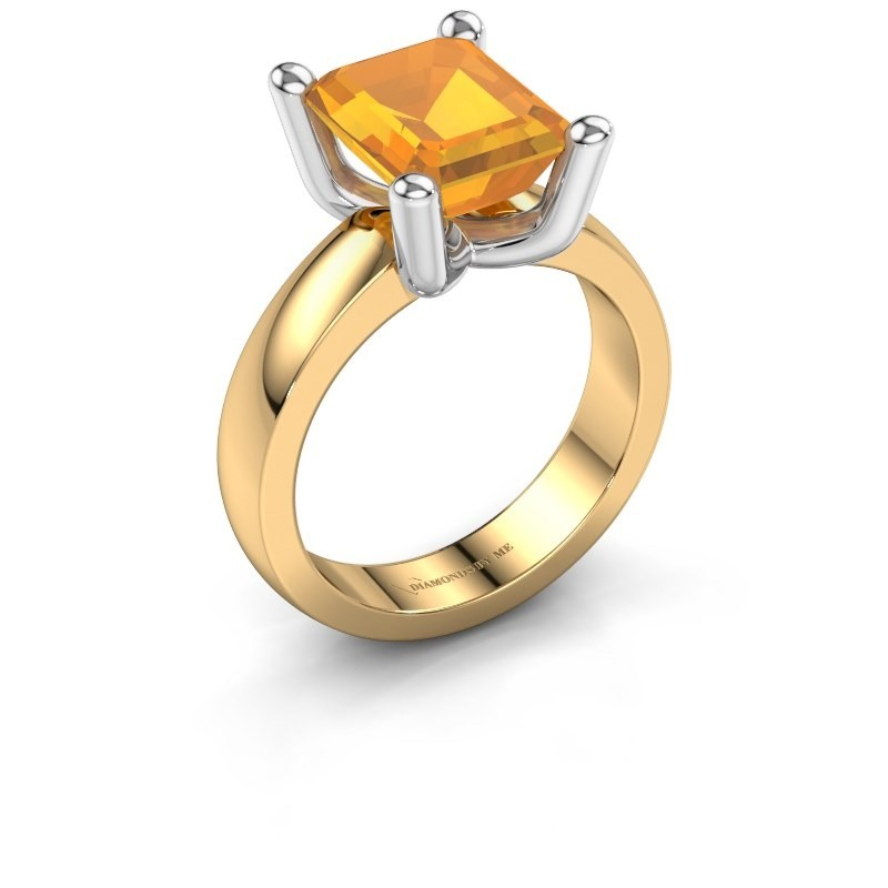 Ring Clelia EME 585 gold citrin 10x8 mm