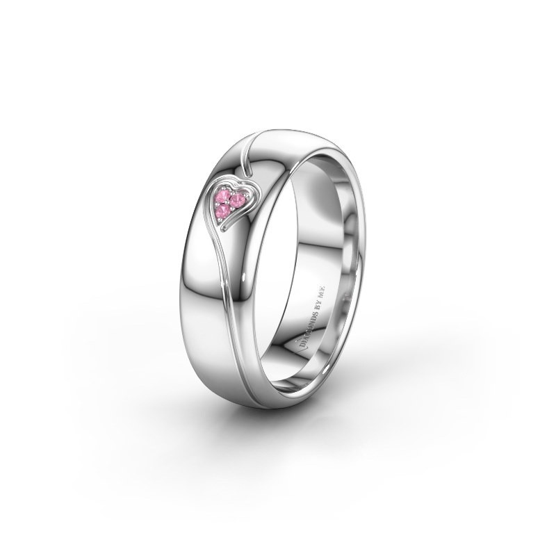 Alliance WH0168L36AP 925 argent saphir rose ±6x1.7 mm