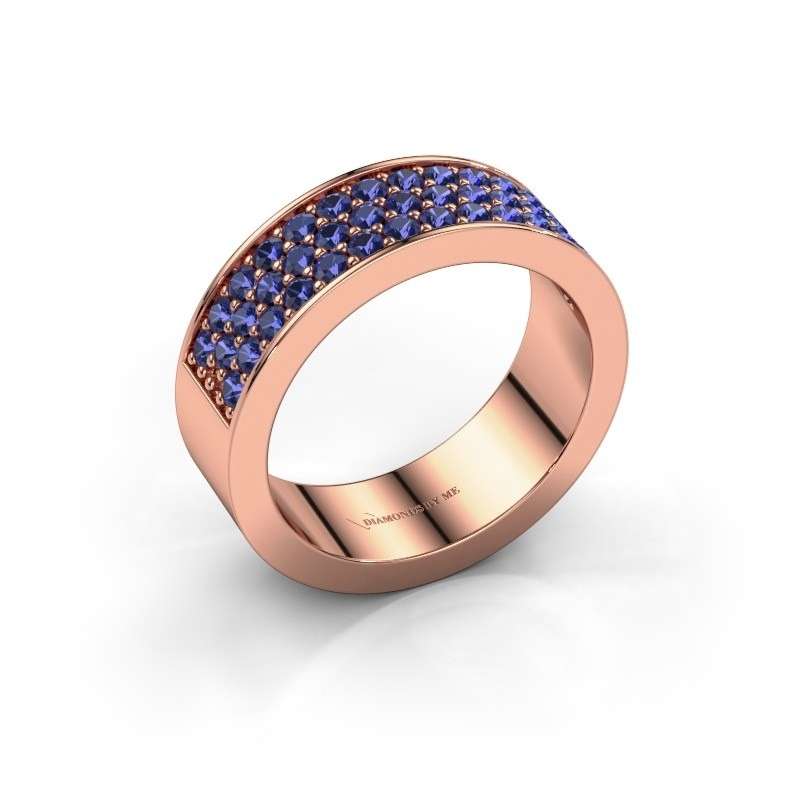 Ring Lindsey 6 375 rose gold sapphire 1.7 mm