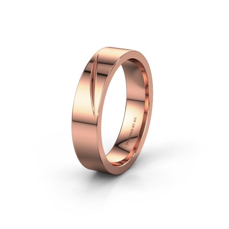 Trouwring WH0170M15A 375 rosé goud ±5x1.7 mm
