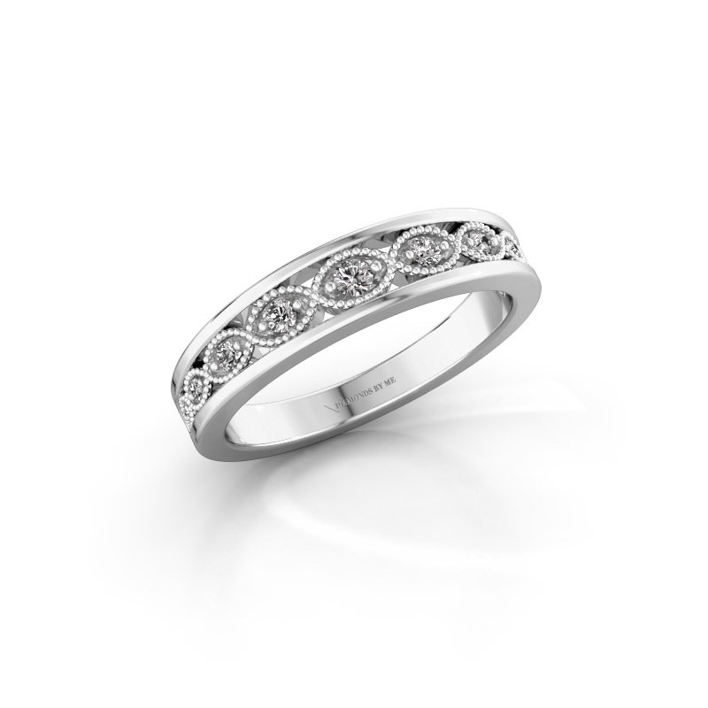 Stackable ring Laine 925 silver diamond 0.125 crt