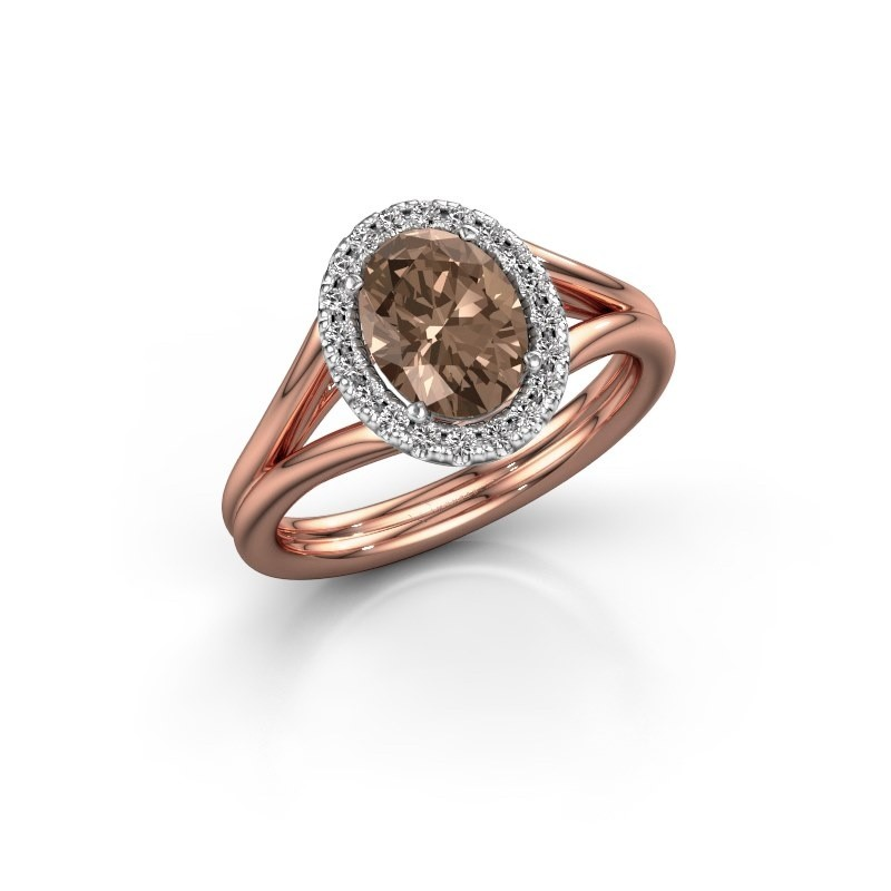 Engagement ring Rachele 1 585 rose gold brown diamond 1.300 crt