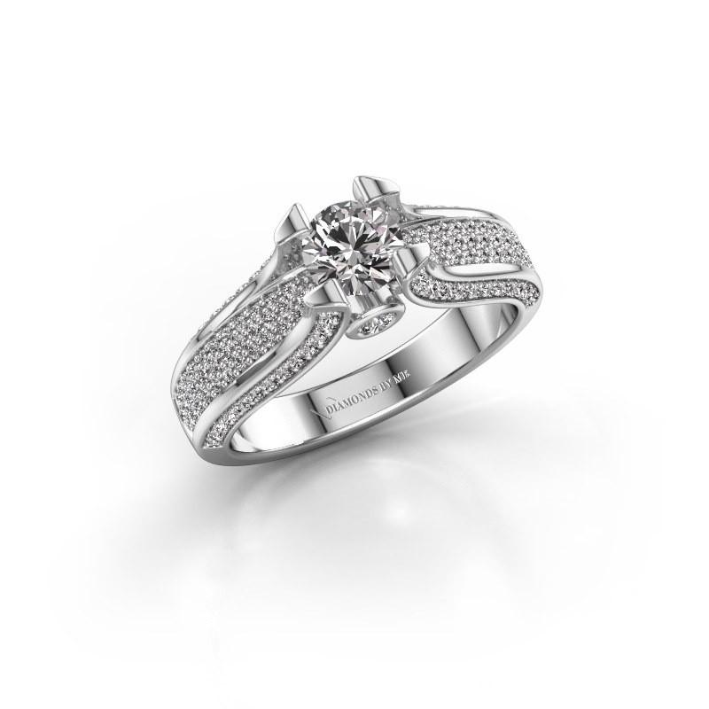 Verlovingsring Jeanne 2 585 witgoud diamant 1.026 crt
