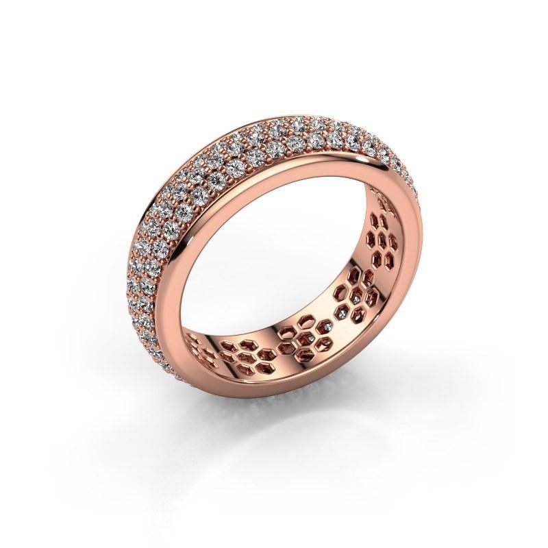 Ring Tara 375 Roségold Zirkonia 1.3 mm