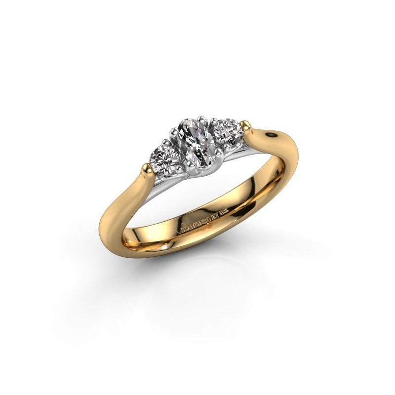 Verlovingsring Jente OVL 585 goud zirkonia 5x3 mm
