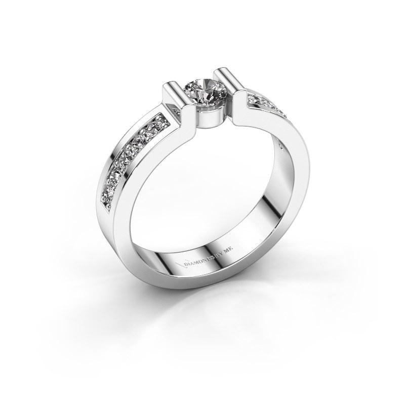 Verlovingsring Isabel 2 925 zilver zirkonia 4 mm
