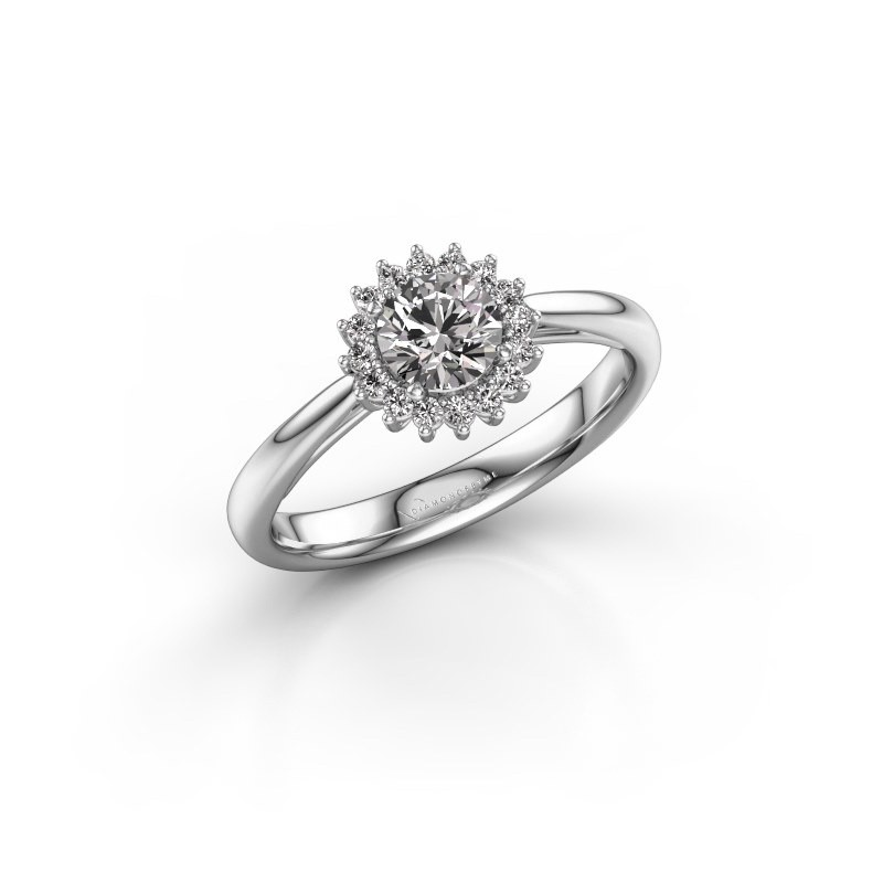 Verlovingsring Mariska 1 950 platina diamant 0.50 crt