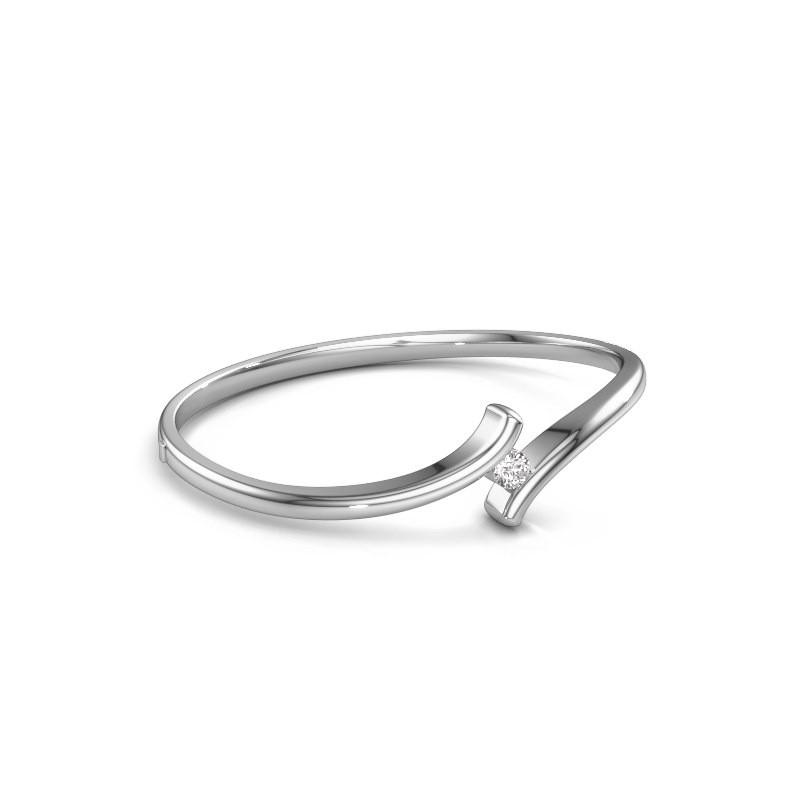 Bangle Amy 950 platinum diamond 0.40 crt