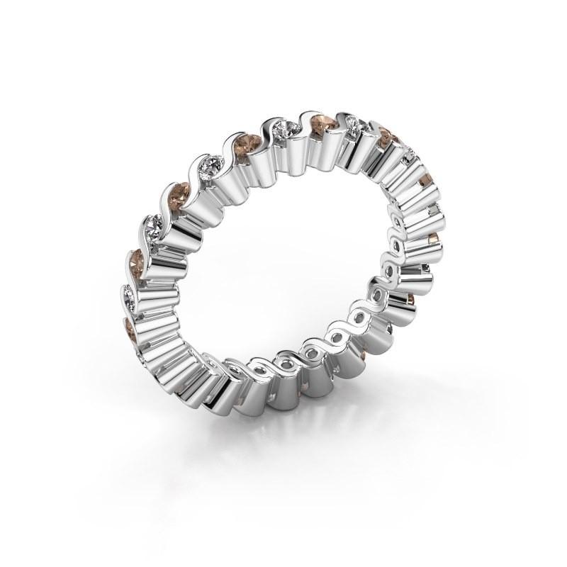 Aanschuifring Faye 585 witgoud bruine diamant 0.78 crt