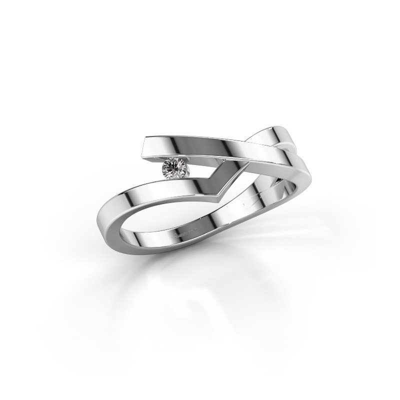 Ring Pamella 925 silver lab-grown diamond 0.045 crt