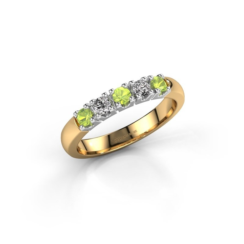 Engagement ring Rianne 5 585 gold peridot 2.7 mm
