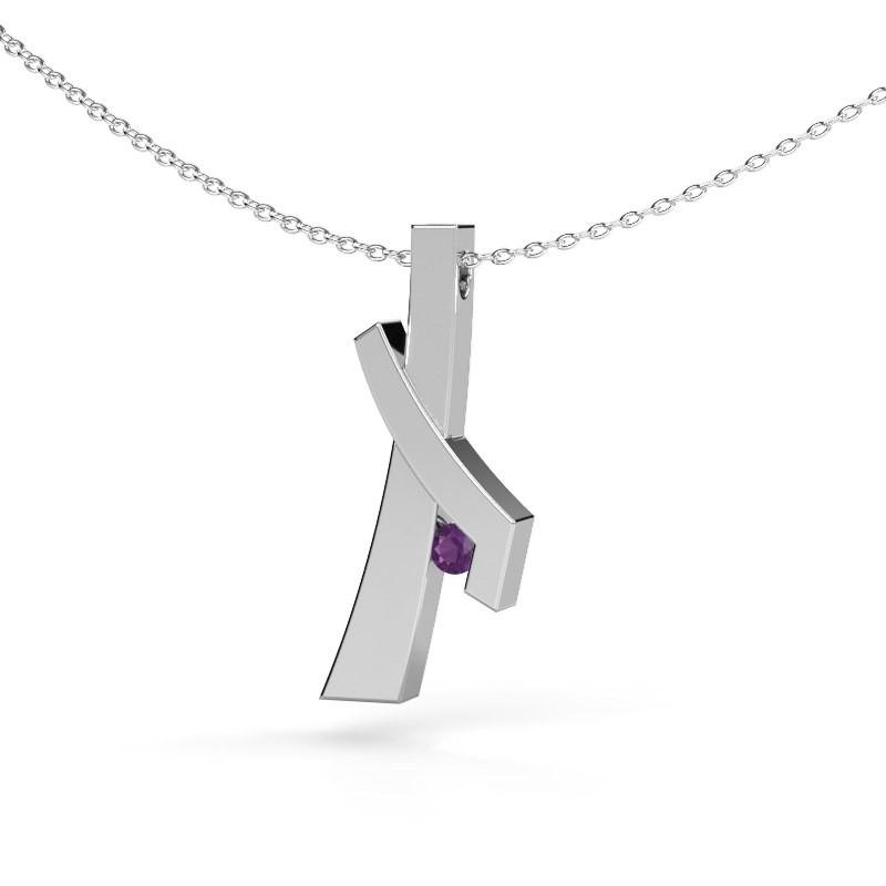 Hanger Alyssa 925 zilver amethist 2.7 mm