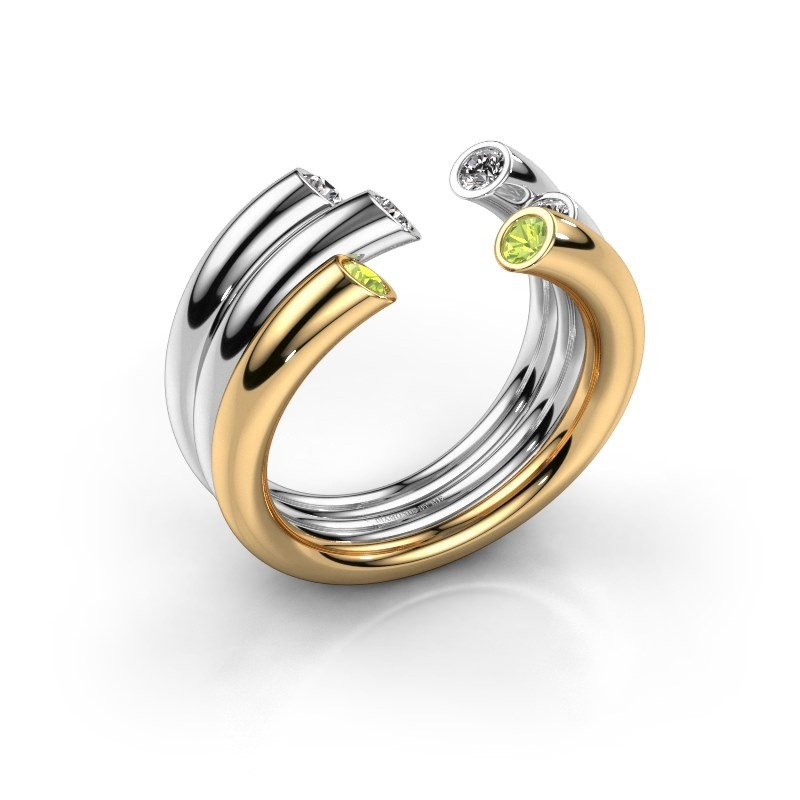 Ring Noelle 585 Gold Peridot 2.4 mm