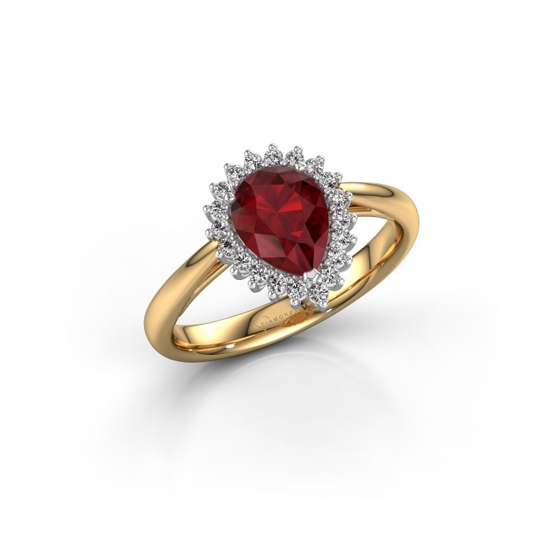 Engagement ring Tilly per 1 585 gold ruby 8x6 mm