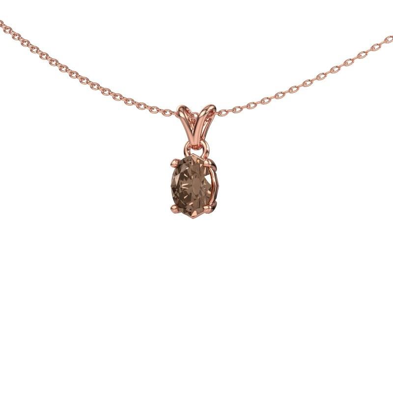 Ketting Lucy 1 585 rosé goud bruine diamant 0.80 crt